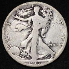 1919-S Walking Liberty Half Dollar CHOICE VG FREE SHIPPING E322 WNA