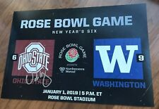 Urban Meyer Signed 12x18 Photo Ohio State Rose Bowl Last Game Ever 2019