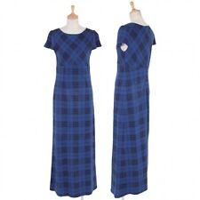 (SALE) TABASA Plaid short sleeved waist switching dress Size 34(K-28132)