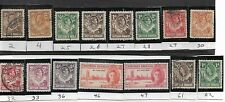 African Stamp Collection, Northern Rhodesia,  15 different, 1925-1963