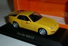 Porsche 968 CS 1:43 Yellow by Minichamps Maxichamps