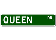 QUEEN Street Sign - Personalized Last Name Sign
