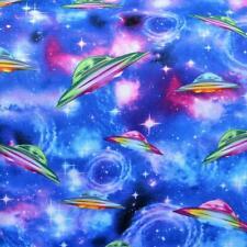 Ufos Patchwork Patchworkstoffe Stoffe Baumwolle Himmel Meterware Galaxy Weltall
