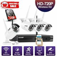 HD 720P 960P 1080P Wireless Security Camera System WiFi NVR (1TB Available)