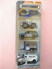 Matchbox  2017  5 PACK  POLICE (RARE)