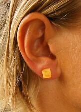 Wunderschöne Ohrringe, Earrings, stud,  Bernstein, GELB Silber 925, NEU