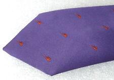 Purple and Orange vintage polyester tie Bright Bold British tie 1960s