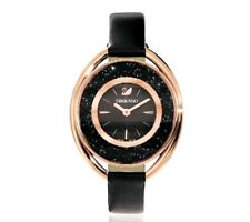*NEW* SWAROVSKI WATCH 5230943 LADIES ROSE GOLD TONE BLACK - NEXT DAY DELIVERY