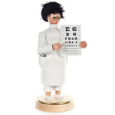 Wooden Lady Holding Eye Chart Doctor Made In Germany Incense Burner Smoker