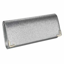 Silver Crystal Diamante Beaded Clutch Bag Wedding Prom  Evening Handbag Purse