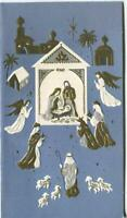 VINTAGE CHRISTMAS FOLK ART MINIMALIST CHRIST ANGEL NATIVITY ISRAEL GREETING CARD