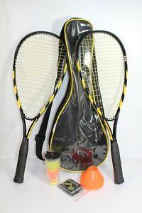 Speedminton Set - S70 Rackets (2) - 3 Birdies - 4 Speed Light - 8 Cones