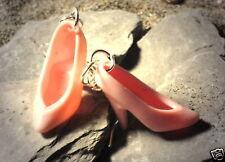 Ohrringe Schuhe Damen Ohrschmuck Modeschmuck Hänger Durchzieher Rosa Kunststoff