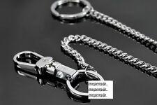Men Metal Key Jean Wallet Belt Chain Wrist Hanging Ring Hook Alloy Silver