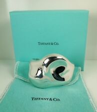 TIFFANY Elsa Peretti RARE Sterling Abstract CUFF Bracelet * Tiffany Pouch/Box