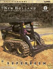 Equipment Brochure - New Holland - Lx985 - Skid Steer Loader - Specs (E1377)
