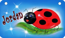 """Ladybug Bicycle License Plate Personalize Text Colors 2.75"""" x 4.5"""" Girl Ladies"""