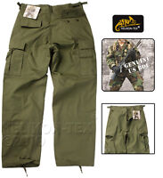 HELIKON BDU TROUSERS OLIVE GREEN BATTLE UNIFORM CARGO MENS COMBAT PANTS SAS SFU