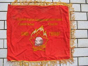 drapeau Soviétique nylon des Jeunesses Communistes portrait Lénine USSR  N333