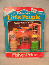 Fisher Price Little People Garage Squad on original card missing one