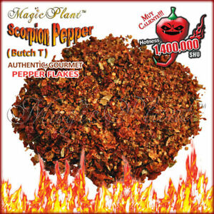 Scorpion Pepper Flakes - Crushed Scorpion Butch T Peppers