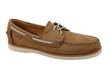 Sebago Men's Crest Docksides Tan Nubuck Boat Shoe