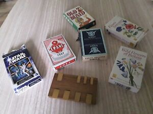 Job Lot  Playing Cards & whist marker turf  star wars flowers old maid crane