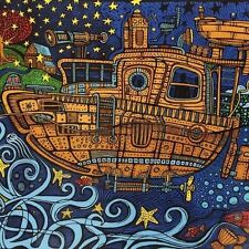 Handmade 100% Cotton 3D Steampunk Tugboat  Tapestry Tablecloth Spread Twin 60x90