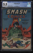 Smash Comics #40 CGC 5.5 OW-W Pages Classic Reed Crandall Cover Last Ray