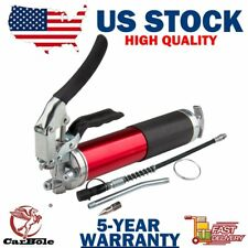 "14oz 6000 PSI Pistol Grip Style Grease Gun with 12"" Flex Hose and a 5-1/2 Metal"