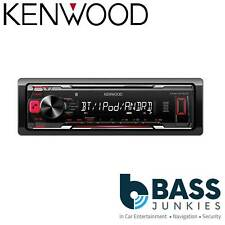 Kenwood KMM-BT203 Single Din Mechless USB AUX Bleutooth iPhone Car Stereo Player