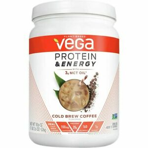 Vega - Protein & Energy Plant-Based Drink Mix Cold Brew Coffee 18 oz. - Exp 2021