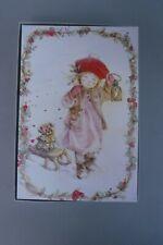 "Lisi Martin Pictura Sweden Box 16 Christmas Cards Girl Lantern ""A Minor Mishap"""