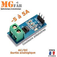Module ACS712 5A capteur de mesure courant AC DC effet HALL | ARDUINO DIY PIC