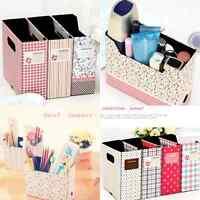 Cute Makeup Cosmetic Stationery Paper Board Storage Box Desk Decor Organizer