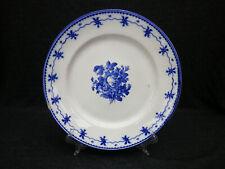 Porcelaine de Tournai RARE assiette à la pensée droite et bouquet fleuri XIXème