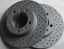 Fits Porsche Boxster Drilled or Slotted Brake Rotors Front Made In Gemrany