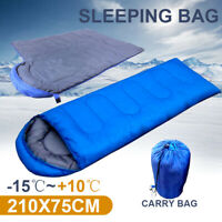 Thermal Single Outdoor Camping Sleeping Bag Hiking Mat Winter Envelope -15°C AU