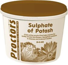 5kg tub of Proctors sulphate of potash general garden fertiliser soil improver