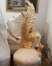 poltrona sedia trono in stile barocco modello Foglia Lui&Lei