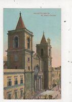 Valletta Malta St Johns Church Vintage Postcard 832a