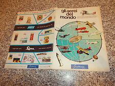 ALBUM GLI AEREI DEL MONDO ED.SAGITTARIO 1968 ORIGINALE Q.COMPLETO(-26 FIG)BELLO