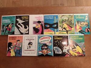 Lot 11 livres FANTOMETTE Georges Chaulet Bibliothèque rose années 70 80 hachette
