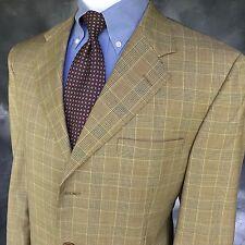 a931d3a5490 Brooks Brothers Men s Sport Coat 42 R Golden Fleece Tan Glen Plaid USA 354