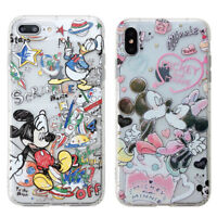 Disney Mickey Minnie Case for Apple iPhone Xs Max XR X 8 7 Soft Shockproof Cover