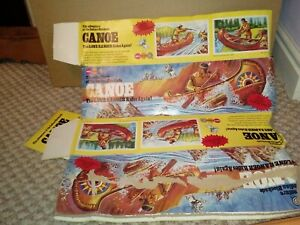 Vintage 1970 marx toys canoe and accessories