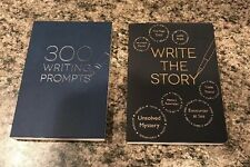 2 Books 300 WRITING PROMPTS  & WRITE THE STORY - BRAND NEW! ~ Piccadilly. MINT!