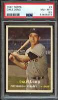 1957 TOPPS #3 DALE LONG PSA 8.5 PIRATES *ADT4284