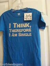 DEAR BY AMANDA BYNES LADIES SIZE LARGE ROYAL BLUE T-SHIRT-NWT!COTTON-STAY SINGLE