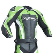 Tute in pelle e altri tessuti traspirante verde in pelle bovina per motociclista